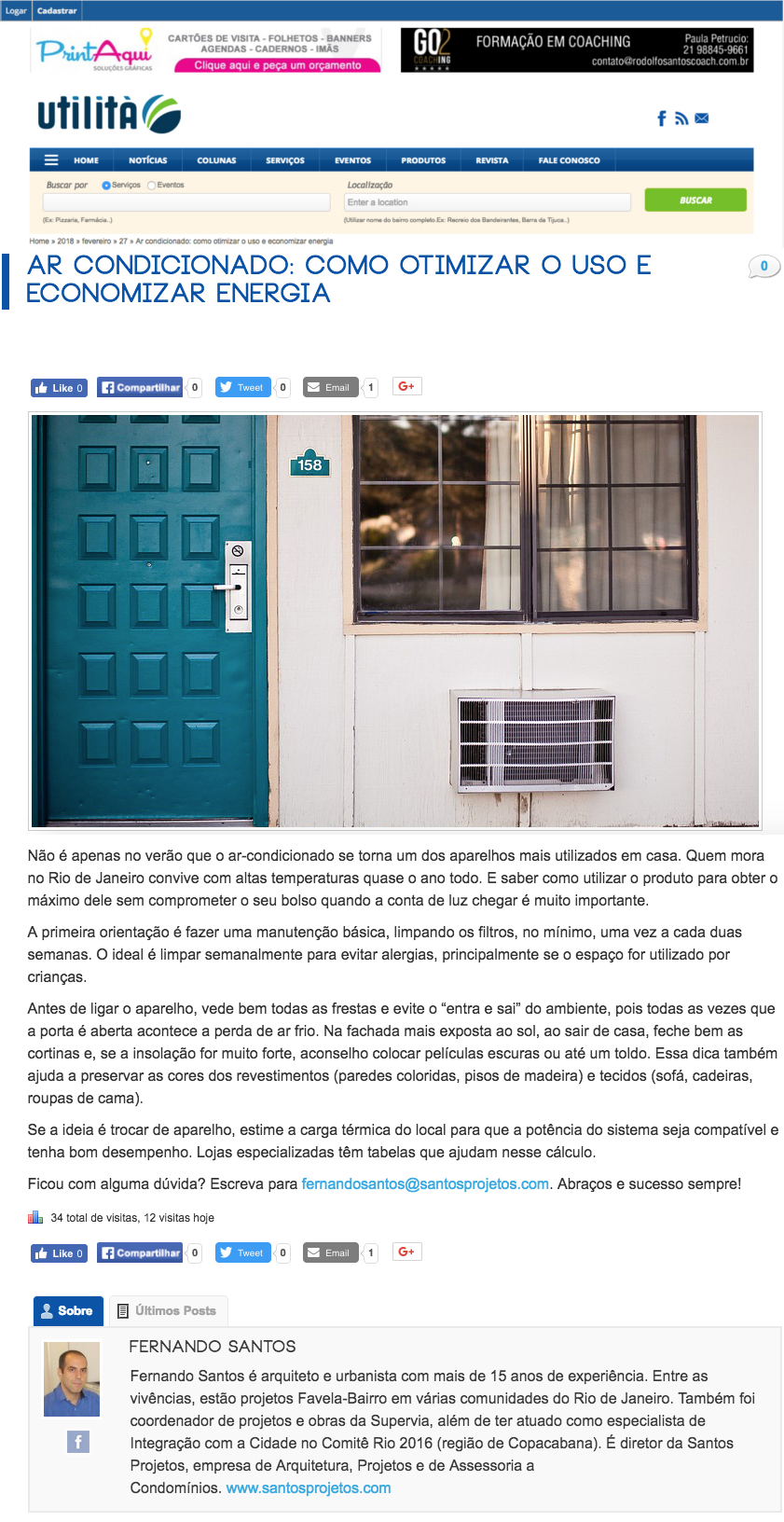 Coluna Portal Utilità: ar condicionado – como otimizar o uso e economizar energia