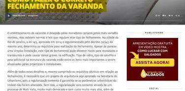 Portal Barrazine – matéria Como fazer o correto fechamento da varanda