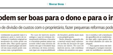 O Globo (Morar Bem) – Um lar temporário parte 2