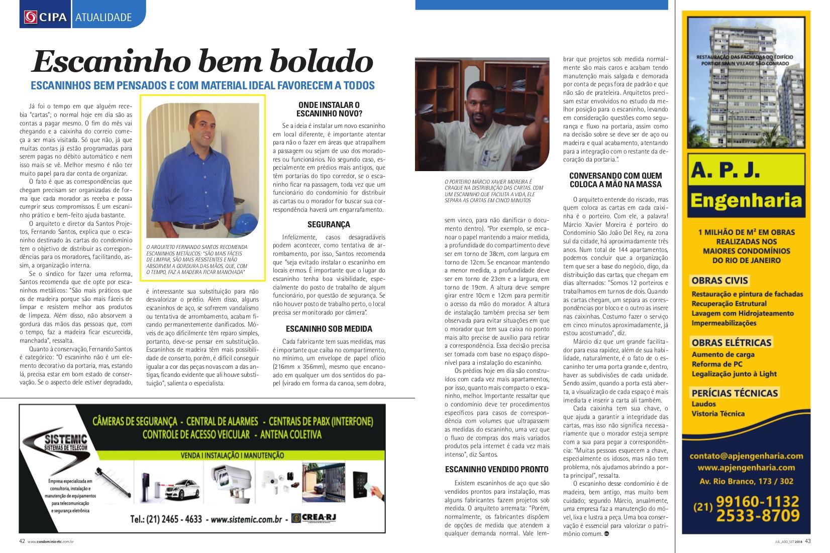 Revista Condomínio (Cipa) – matéria Escaninho bem bolado