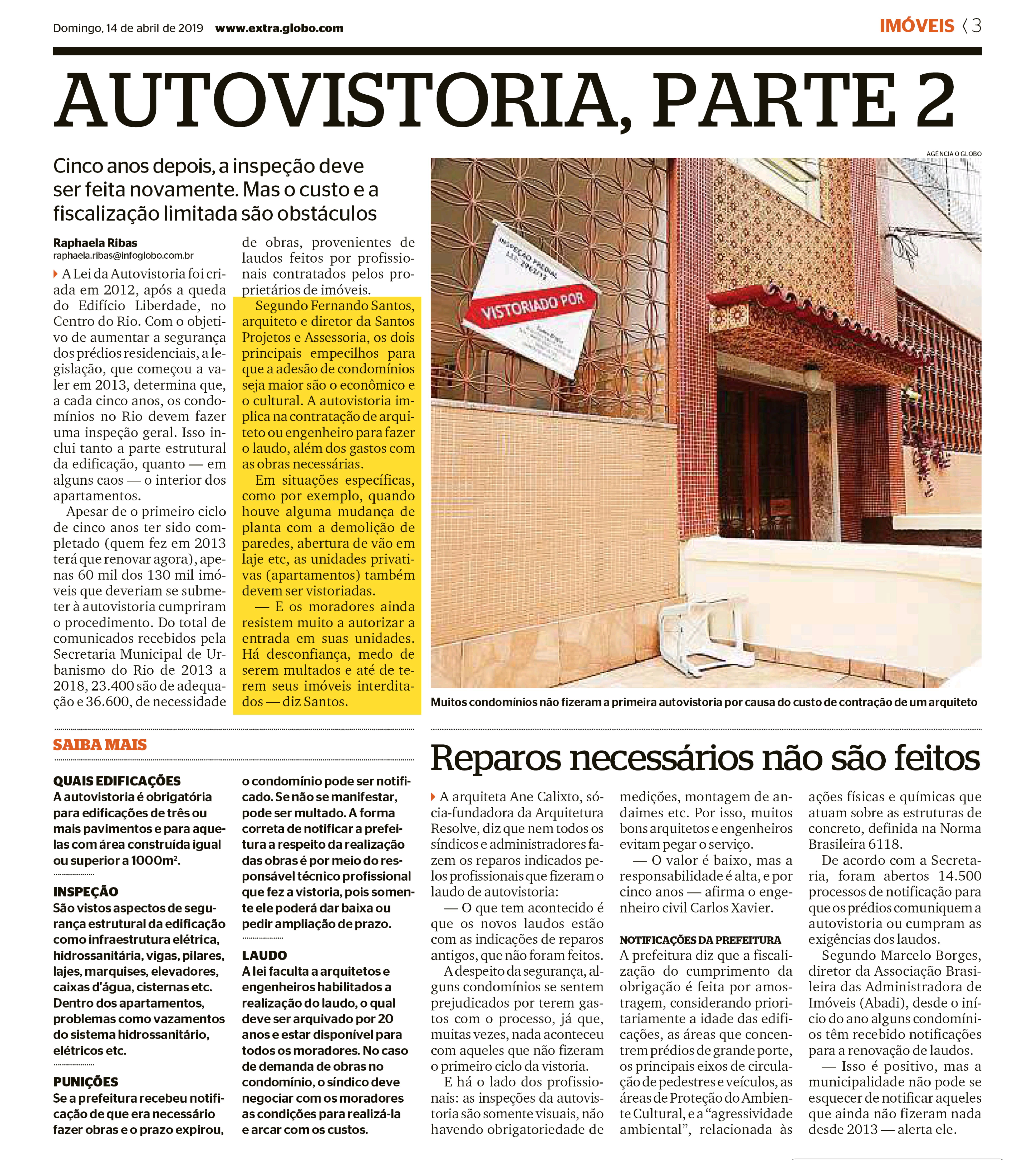 Jornal Extra – Autovistoria parte 2