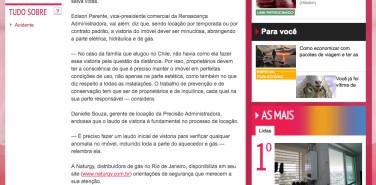 Jornal Extra online – Perigos do gás: vistoria nas instalações é uma das formas de evitar tragédias