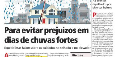 Jornal Meia Hora – Para evitar prejuízos em dias de chuvas fortes